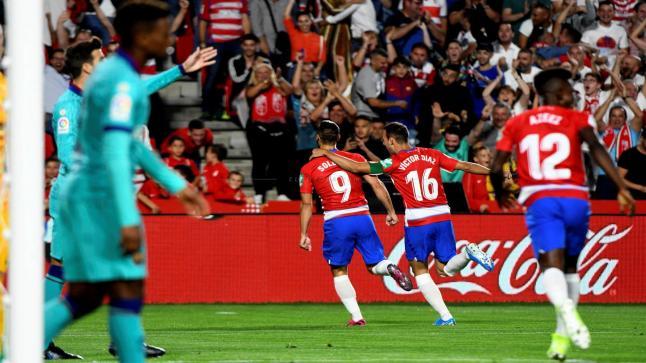 نادي غرناطة يوقع ببرشلونة للمرة الثانية في الليجا