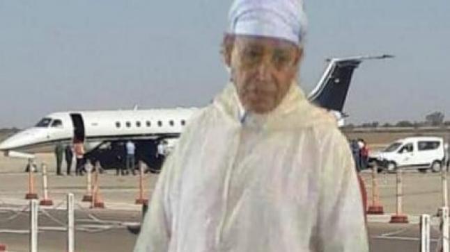 """وصول جثمان """" الحاج ابراهيم بيشا """" مطار المسيرة بأكادير"""