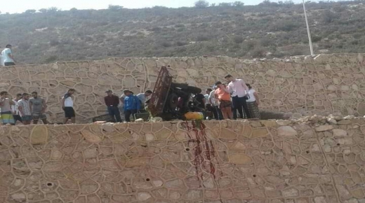 """سقوط """" تريبورطور """" من أعلى منحدر أكادير أوفلا"""