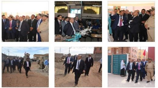 بالصور ، عامل انزكان ايت ملول يشرف رفقة وفد رسمي على إطلاق مبادرة مليون محفظة و يزور مؤسسات تعليمية