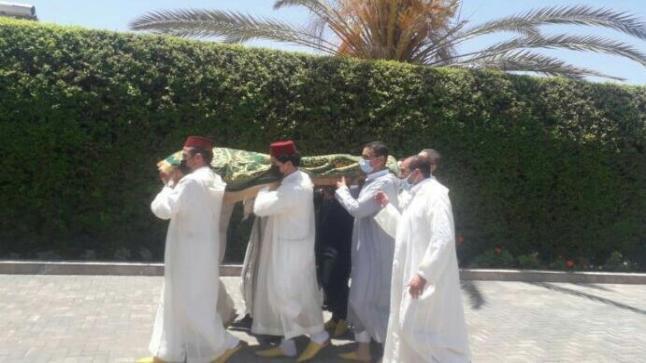 مسؤولون بارزون يحضرون جنازة الراحل الحاج ابراهيم بيشا بتزنيت