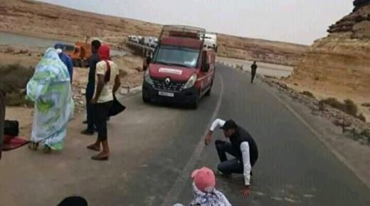 """وفد الوزير """" امزازي"""" يتعرض لحادثة سير خطيرة بعد عودته من الكركرات"""
