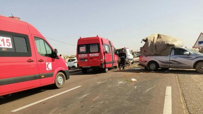 فاجعة بعد حادثة سير لشاحنة نقل عمال زراعيين بالقليعة