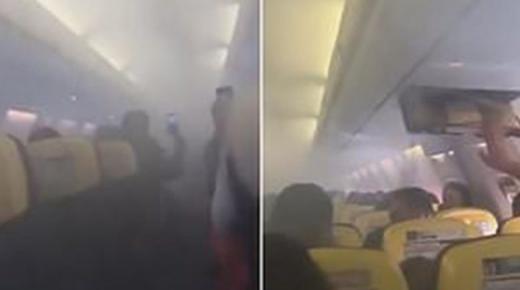 دخان كثيف يضطر طائرة رحلة (مراكش – برشلونة) للنزول بمطار مالكا ونجاة ركابها