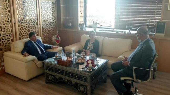 القنصل العام الجديد لفرنسا بأكادير تعقد أول لقاء لها مع رئيس مجلس الجهة
