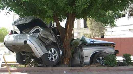 """إصابة """" عسكري """" في حادث مروري نواحي اشتوكة"""