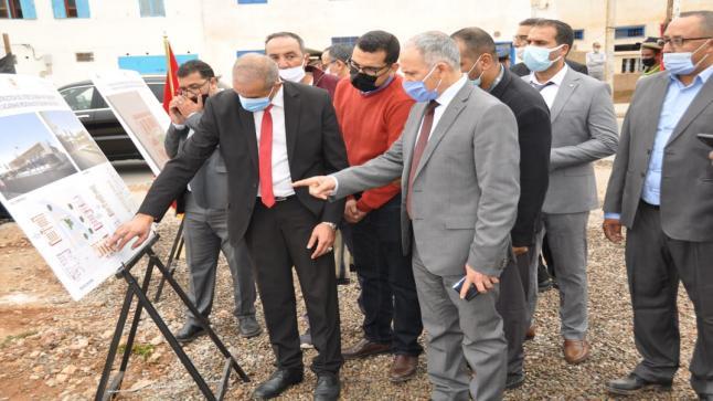 سيدي إفني: عامل الإقليم يستقبل السيد وزير التجهيز والنقل واللوجستيك والماء.