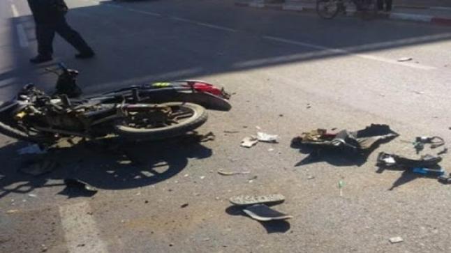 مصرع سائق دراجة نارية في حادثة سير مروعة