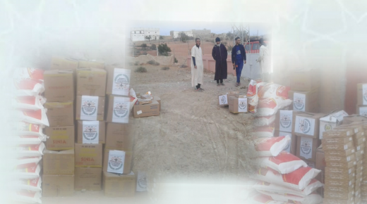 حوالي 130 أسرة تستفيد من حملة خيرية بآيت جيتاكل نواحي أيتامر