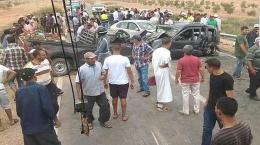 روينة : مقتل سيدة وجرح آخرين في حادث اصطدام أربع سيارات