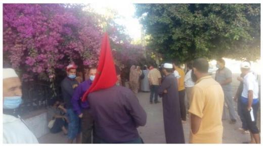 حكم بالإفراغ يخرج متضررين للاحتجاج في سيدي بيبي