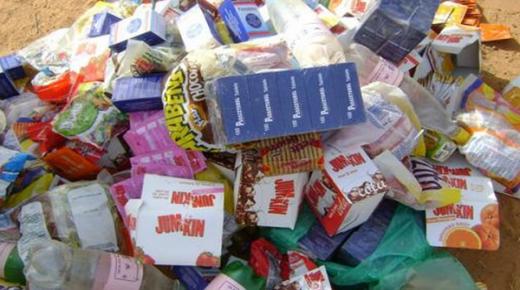 حجز 585 كلغ من المواد الغذائية غير الصالحة للاستهلاك