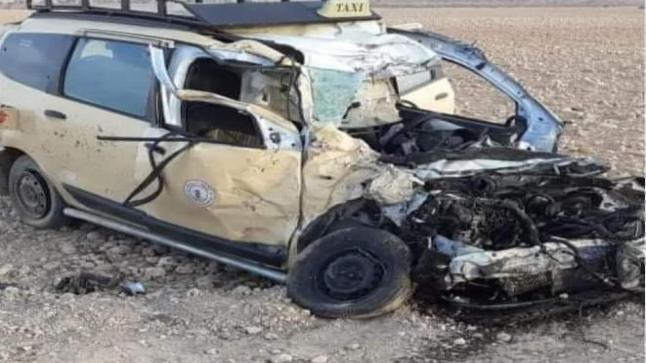 مقتل سائق سيارة أجرة في حادث خطير بإمينتانوت