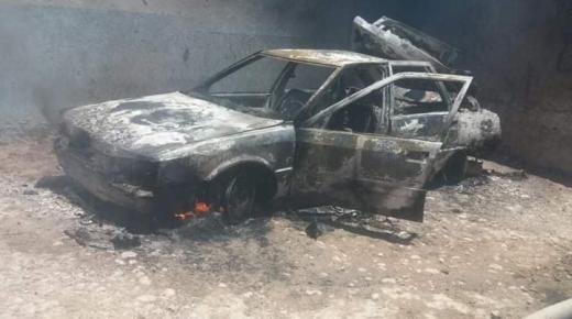 حريق يأتي على سيارة تشتغل بالغاز في أكادير