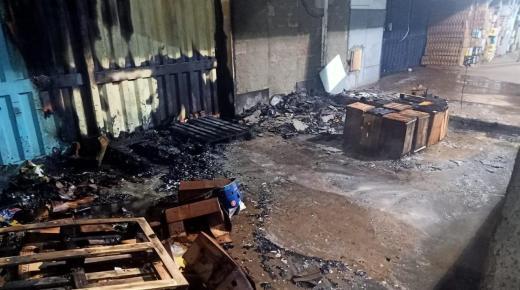 اندلاع حريق بسوق الجملة بمدينة الدار البيضاء