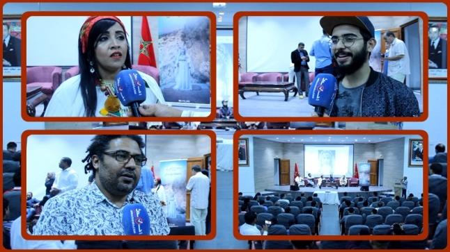 """فيديو : إطلاق ألبوم غنائي للفنانة """" كلثومة تامزيغت """" في ندوة صحفية بأكادير"""