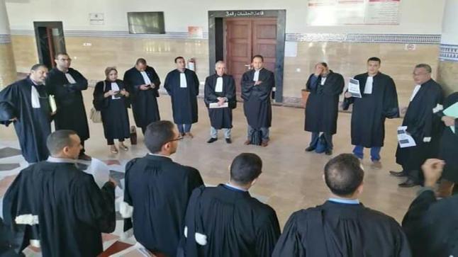 المحامون في وقفة احتجاجية بتزنيت