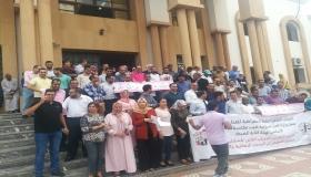 انزكان : المكتب الوطني لنقابة العدل ينظم وقفة احتجاجية بالمحكمة الابتدائية