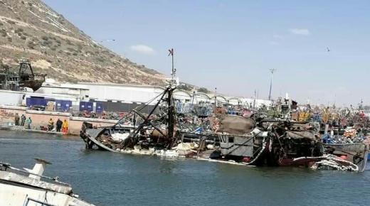 غرق مركب للصيد الساحلي بميناء أكادير