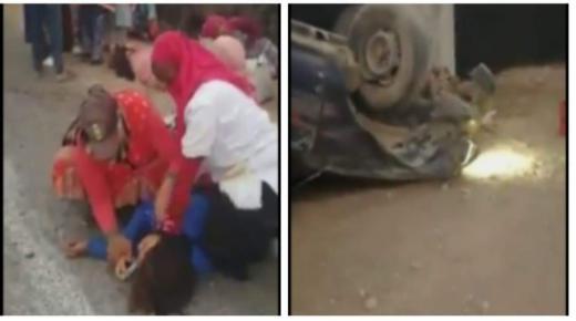 اصابة عمال زراعيين بعد انقلاب بيكوب بأيت عميرة