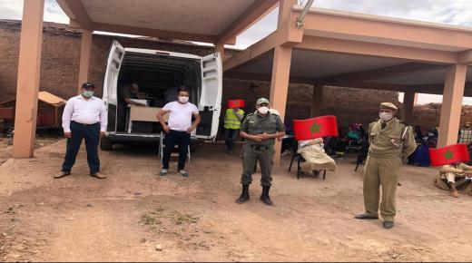 السلطات تشرف على عملية سحب الدعم المالي بتزكزاوين ناحية تارودانت