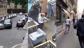 فيديو لمطاردة هوليودية من طرف الشرطة بعد عملية سطو مسلح على محلّ ذهب بباريس في واضحة النهار