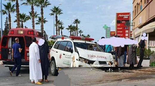 إصابة سيدة داخل سيارة إسعاف في حادثة سير بتزنيت