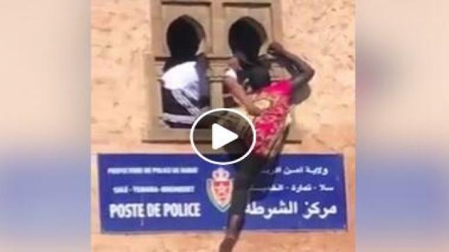 """فيديو : محاولة انتحار سينغالية من أعلى """" كوميسارية """""""