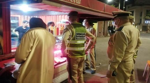 السلطات تباشر عمليات حظر التجوال الليلي بأكادير