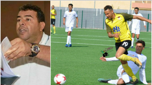 هداف فريق شباب هوارة لكرة القدم يتمرد على رئيس النادي بسبب عدم توصله بمستحقاته