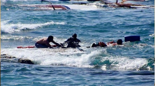 مصرع 6 أشخاص من أصل 40 غرق بهم قارب الهجرة السرية بشاطئ بومرسال نواحي سيدي افني