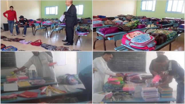 جمعية توزع محافظ وأدوات مدرسية بمنطقة التامري بأكادير