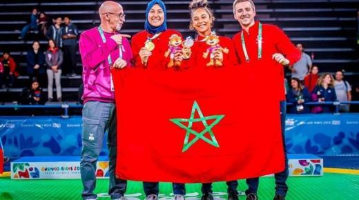 المغربية فاطمة الزهراء الفائزة بذهبية التايكواندو في أولمبياد الشباب 2018 ضمن المشاركين في مؤتمر الإبداع الرياضي الدولي