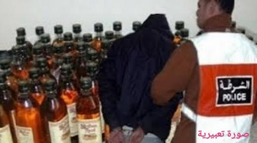 """توقيف """"كراب"""" بحي الرطيم أولاد تايمة وحجز كمية مهمة من الخمور"""