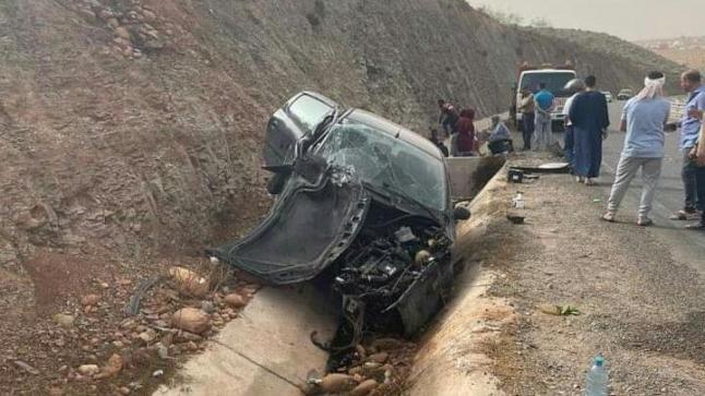 حيوان يتسبب في حادثة سير خطيرة قرب وادي ماسة