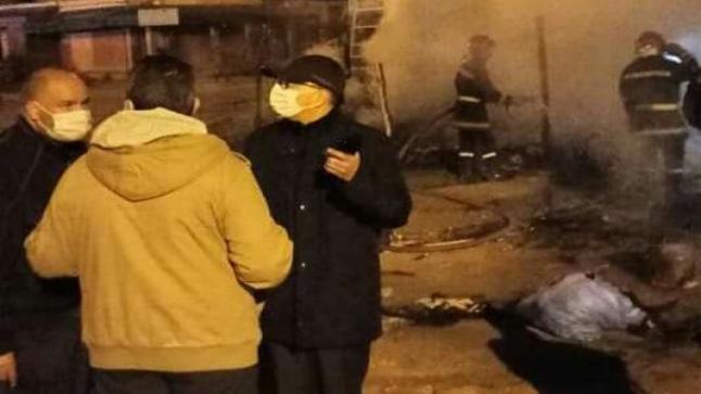 عامل اشتوكة يزور مسرح حريق منطقة بلفاع