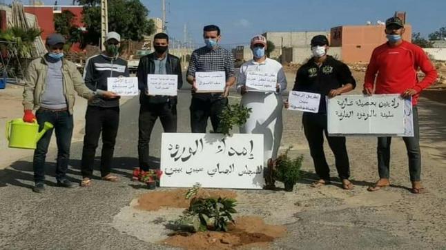 الورود لمجلس جماعي نسي تأهيل طريق في سيدي بيبي