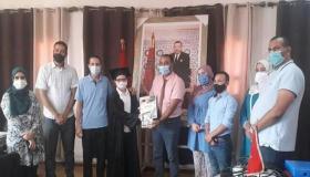 """الرحال يحتفي بالتلميذ """" هشام أيت بن العربي """" في شيشاوة"""