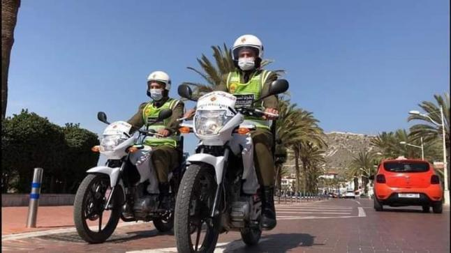 """دراجات نارية وسيارات لأفراد """" القواة المساعدة """" بأكادير"""