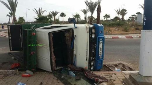 وفاة وإصابات في إنقلاب شاحنة بتارودانت