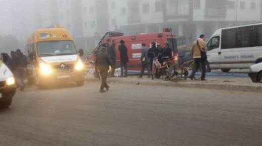 """سيارة نقل مدرسي تقتل """" صبية """" في إنزكان ."""