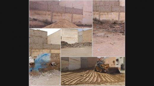 بعد شكاية مواطنين سلطات ترفع الضرر بحي الجرف بإنزكان