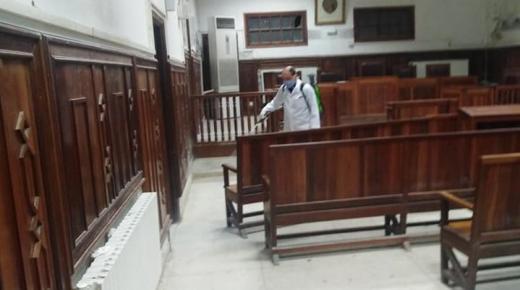 وزارة العدل تؤكد تعقيم جميع محاكم المملكة بمعدل مرة واحدة في الأسبوع