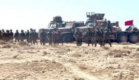 """اقتحام و محاصرة لعصابة """"البوليساريو"""" والسيطرة على المنطقة العازلة بالكامل من طرف الجيش المغربي"""