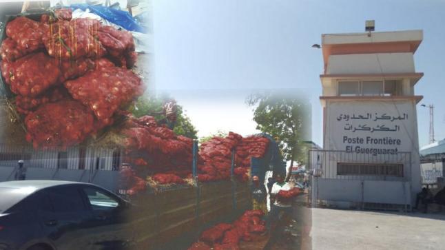 """إغلاق معبر """" الكركارات """" يسبب خسائر فادحة لتجار مغاربة"""