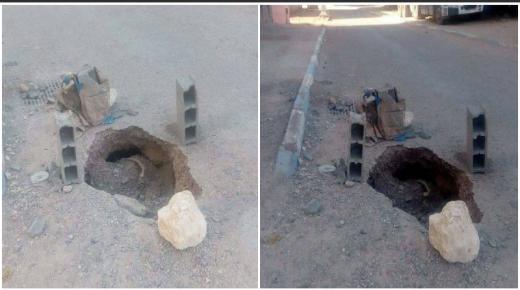 حفر خطيرة تقلق ساكنة أزرو بايت ملول .