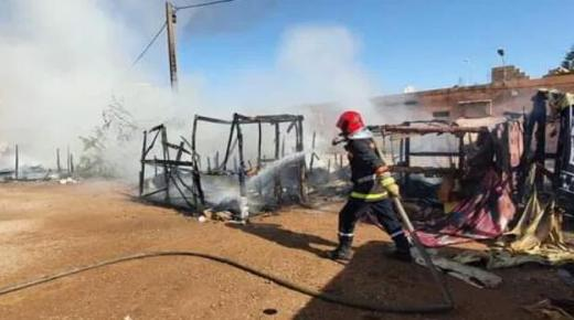 إندلاع حريق بمخيم للمهاجرين الأفارقة في تزنيت