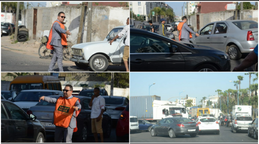 بالصور ، موقف مهني لمسؤول امني ينزل للشارع العام ينظم حركة المرور