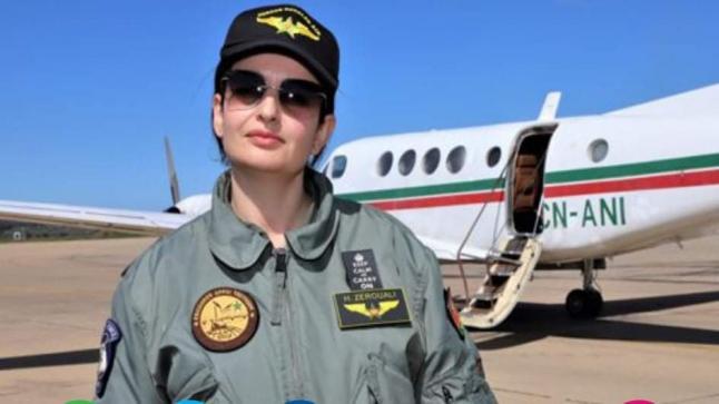 أم لطفلين.. حنان الزروالي أول مغربية تقود طائرة عسكرية