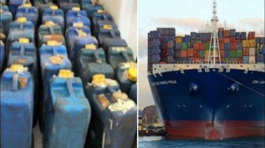 اليقظة الشرطية بميناء أكادير تسفر عن إيقاف حراكا و 400 لتر من البنزين المهرب